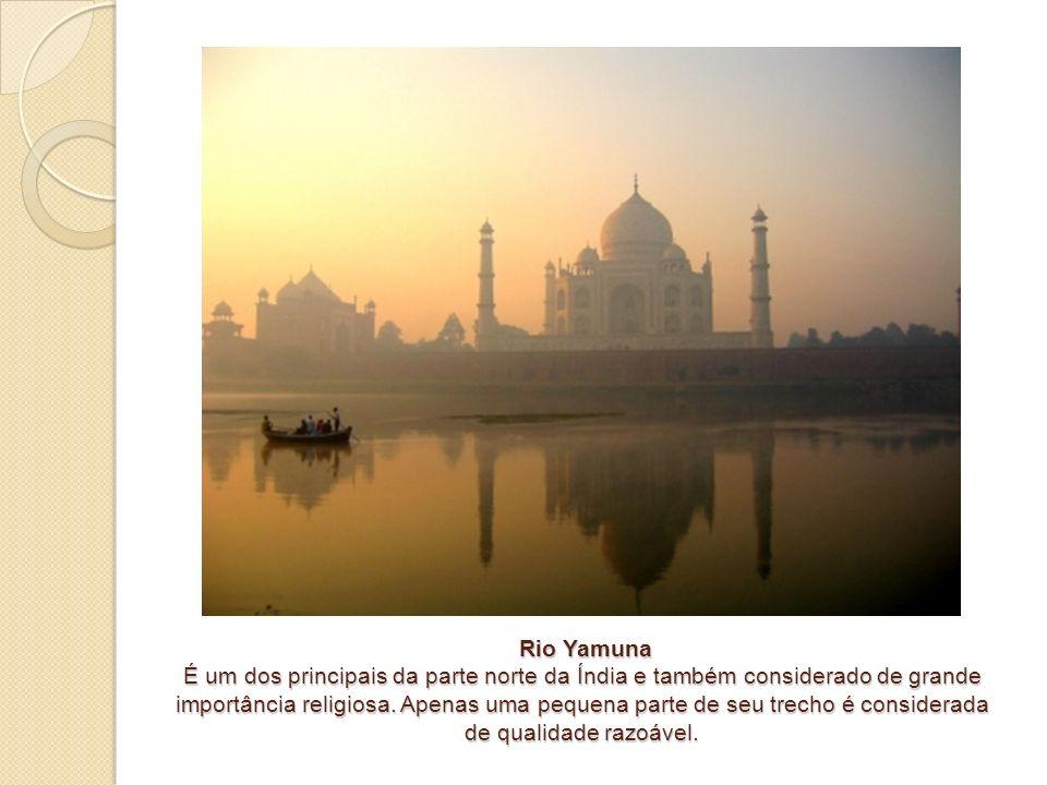 Rio Yamuna É um dos principais da parte norte da Índia e também considerado de grande importância religiosa.