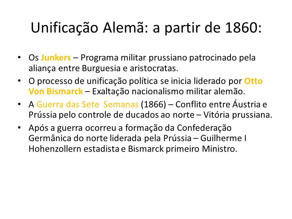 Unificação Alemã: a partir de 1860:
