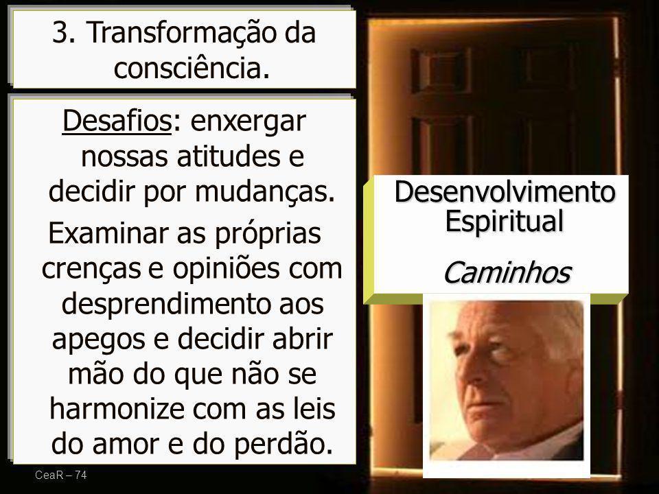 3. Transformação da consciência.