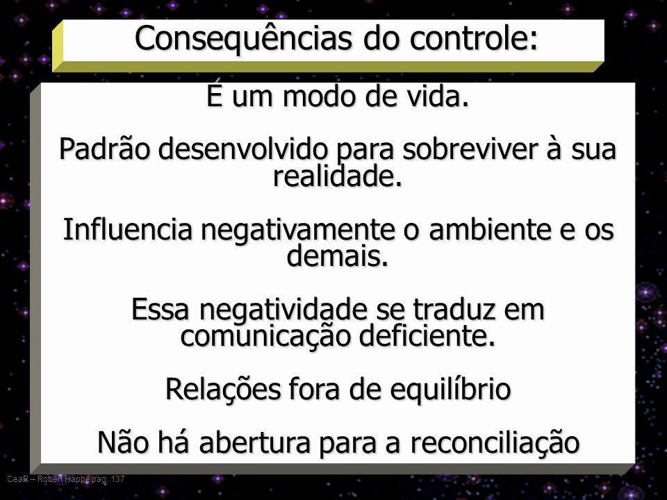 Consequências do controle: