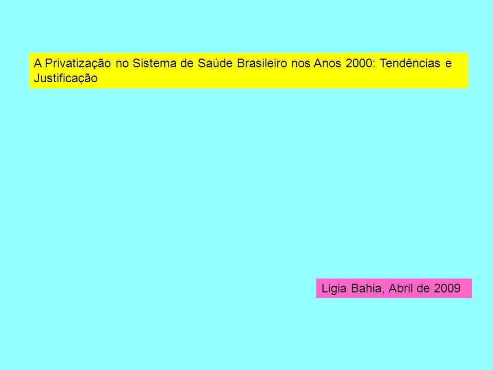 A Privatização no Sistema de Saúde Brasileiro nos Anos 2000: Tendências e Justificação
