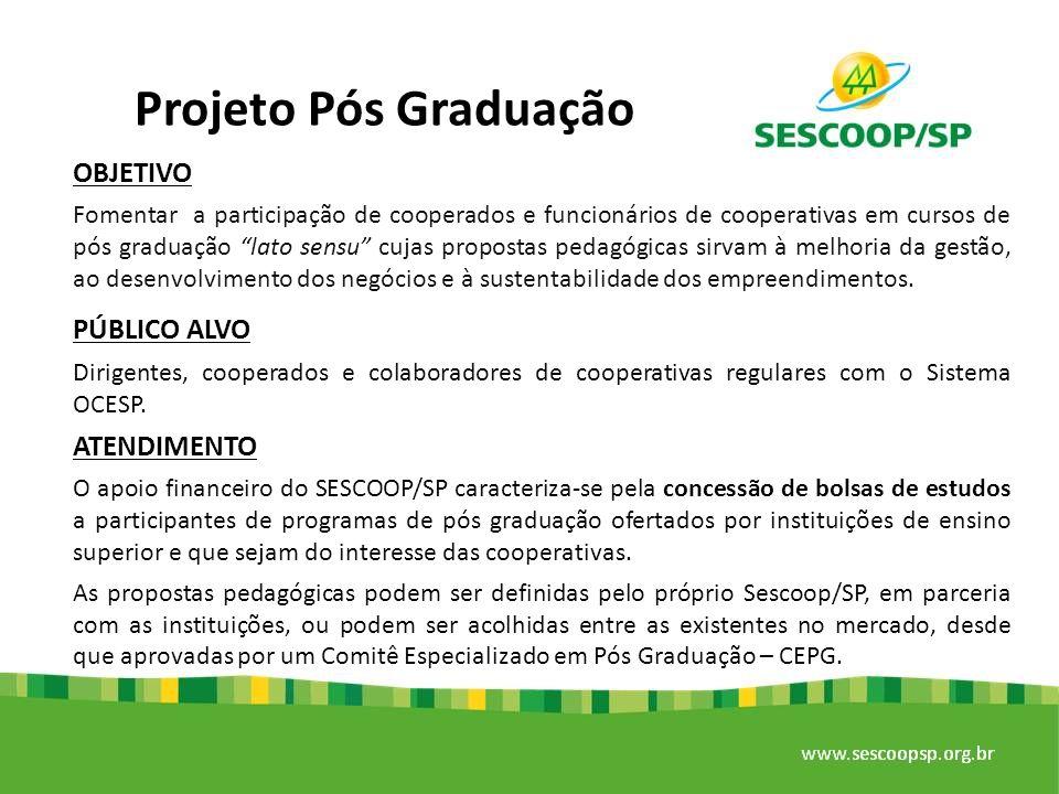 Projeto Pós Graduação OBJETIVO PÚBLICO ALVO ATENDIMENTO