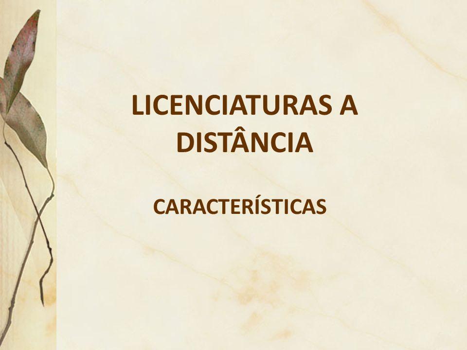 LICENCIATURAS A DISTÂNCIA