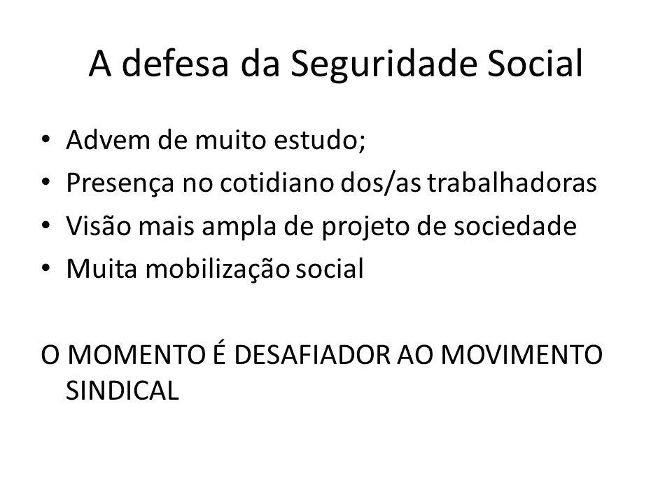 A defesa da Seguridade Social