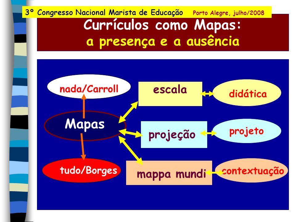 Currículos como Mapas: a presença e a ausência