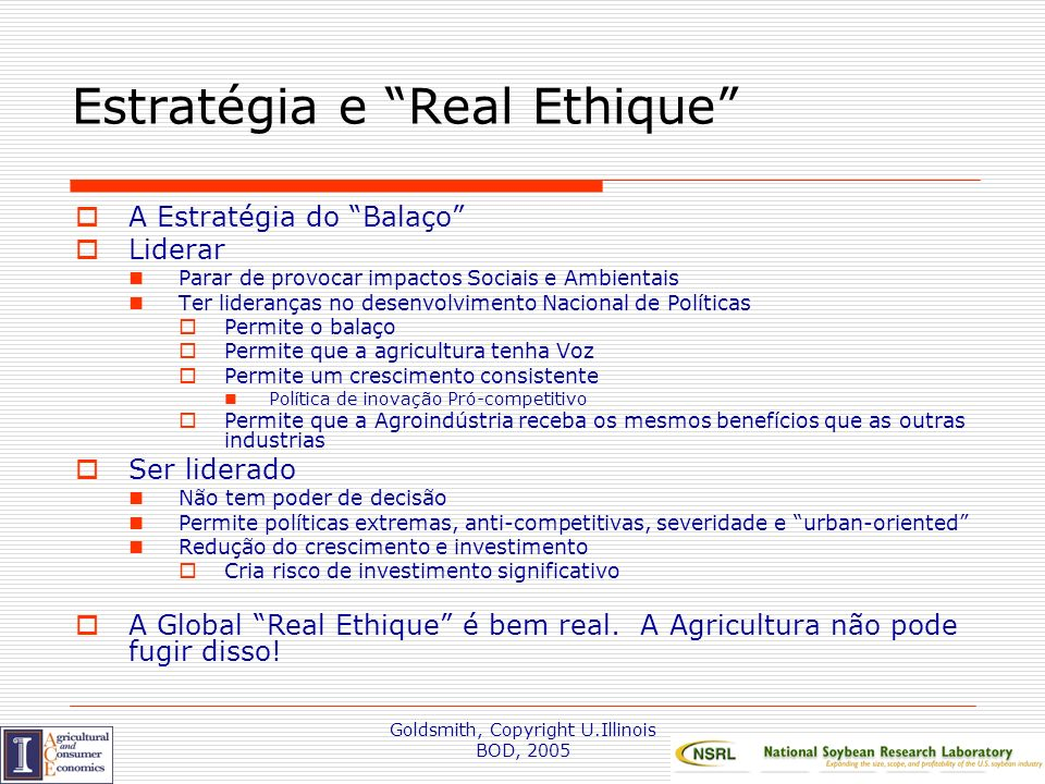 Estratégia e Real Ethique