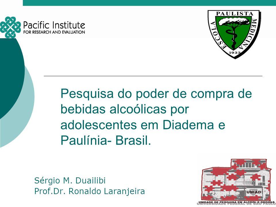 Sérgio M. Duailibi Prof.Dr. Ronaldo Laranjeira