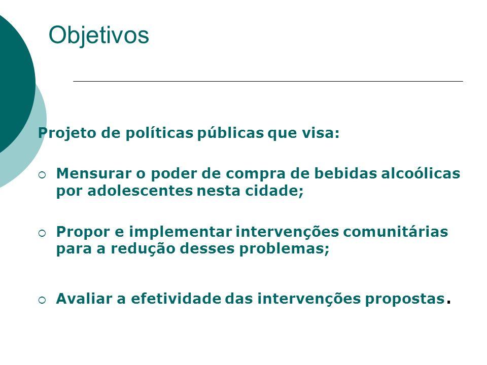Objetivos Projeto de políticas públicas que visa: