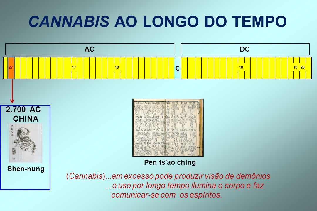 CANNABIS AO LONGO DO TEMPO