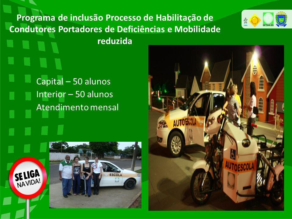 Programa de inclusão Processo de Habilitação de Condutores Portadores de Deficiências e Mobilidade reduzida