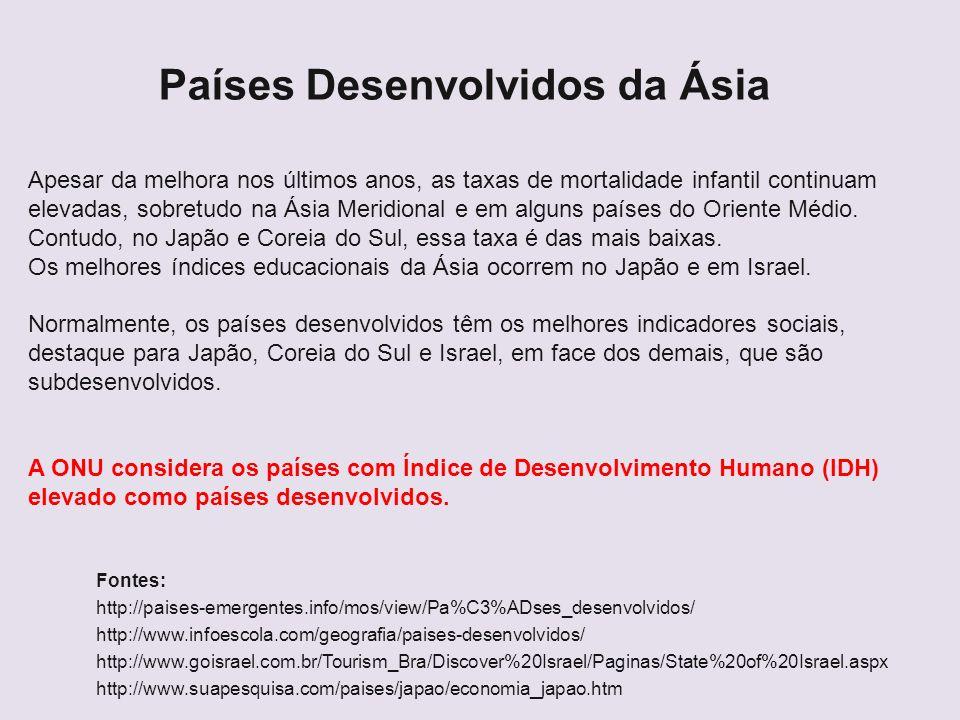 Países Desenvolvidos da Ásia