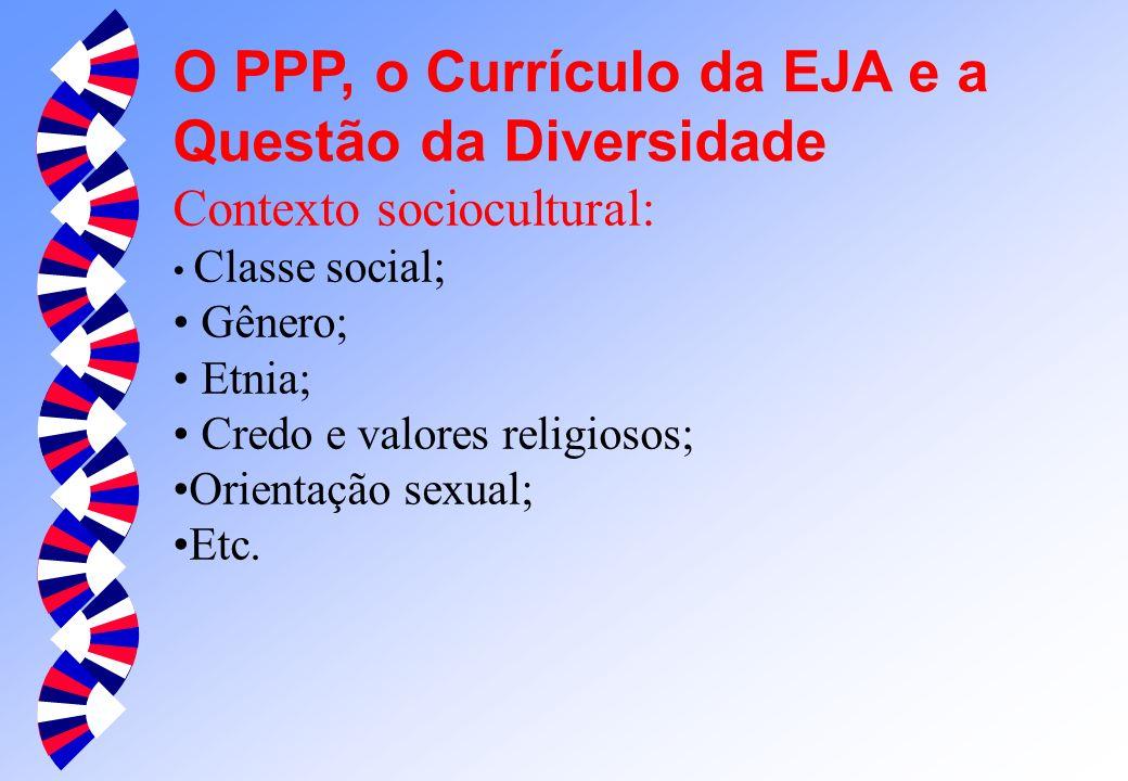 O PPP, o Currículo da EJA e a Questão da Diversidade