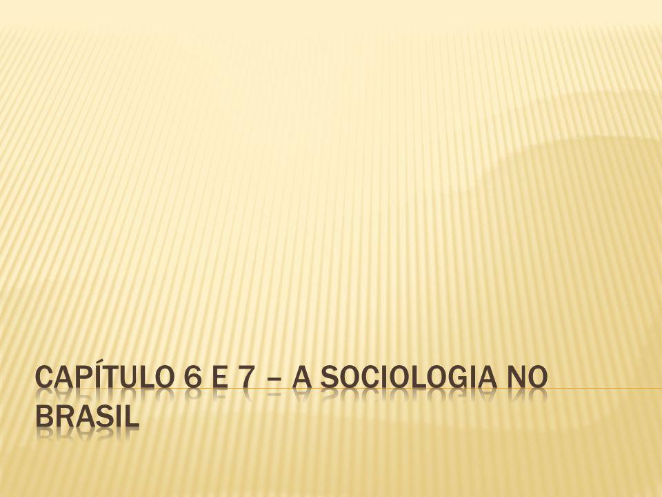 CAPÍTULO 6 e 7 – A SOCIOLOGIA NO BRASIL