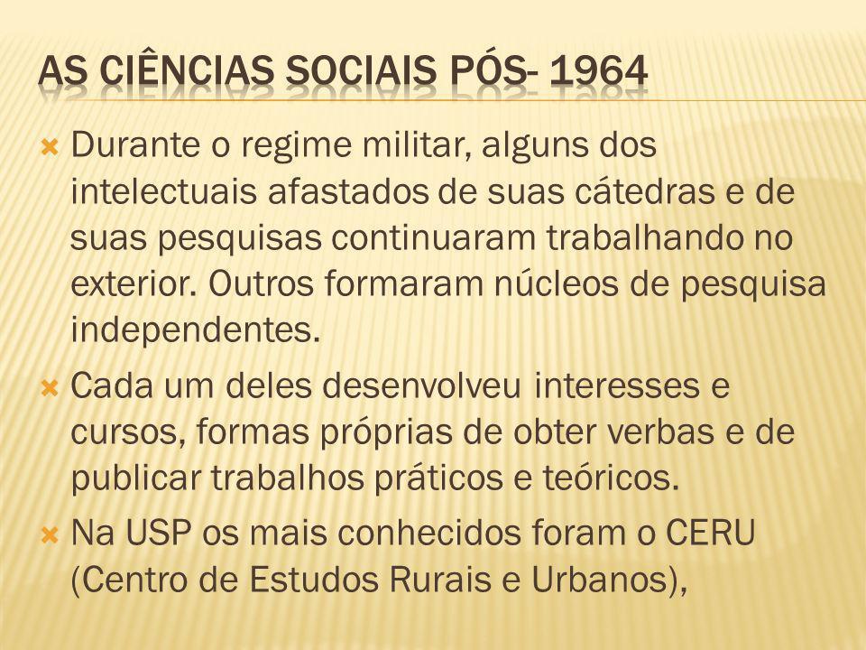 As ciências sociais pós- 1964