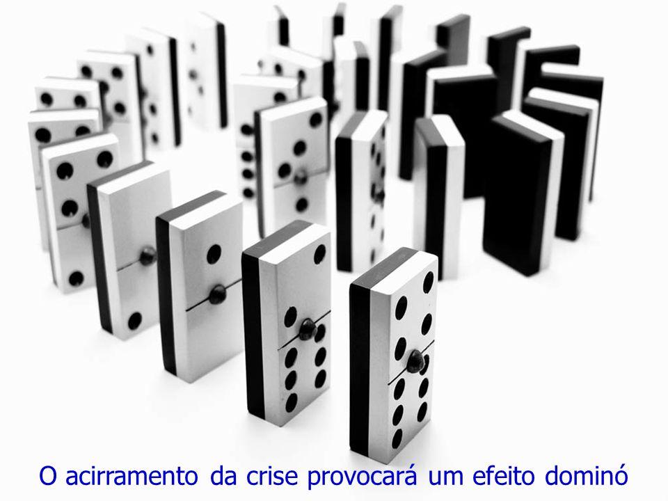 O acirramento da crise provocará um efeito dominó