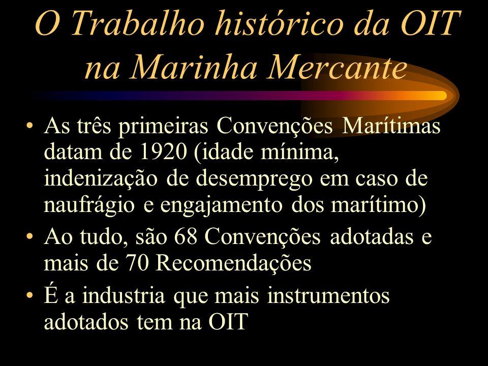 O Trabalho histórico da OIT na Marinha Mercante