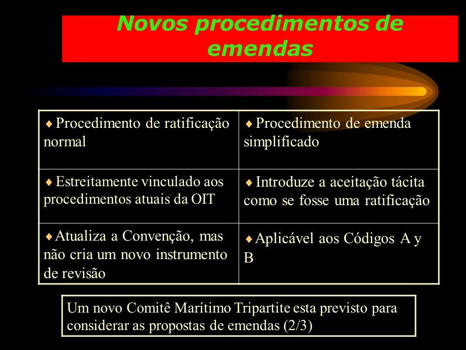 Novos procedimentos de emendas