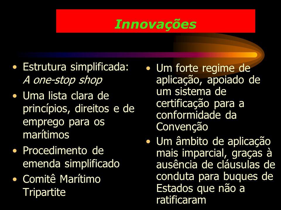 Innovações Estrutura simplificada: A one-stop shop