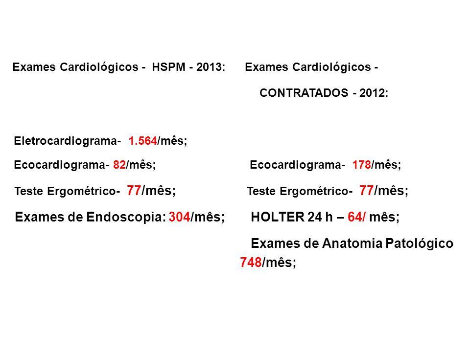 Exames Cardiológicos - HSPM - 2013: Exames Cardiológicos -