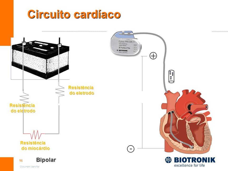 Circuito cardíaco Bipolar Resistência do eletrodo Resistência
