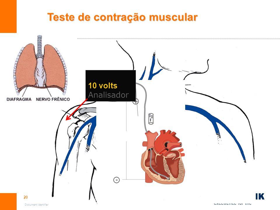 Teste de contração muscular