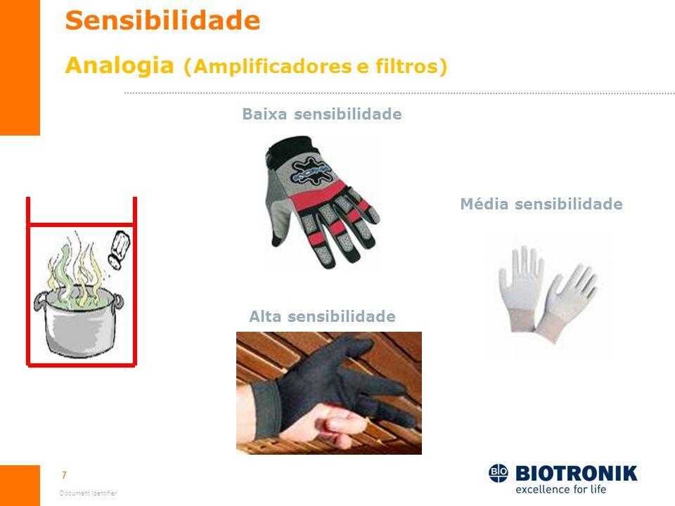 Sensibilidade Analogia (Amplificadores e filtros)
