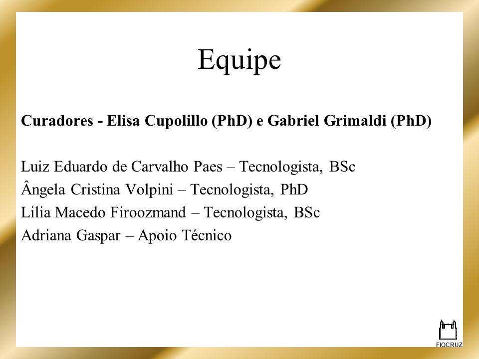 Equipe Curadores - Elisa Cupolillo (PhD) e Gabriel Grimaldi (PhD)