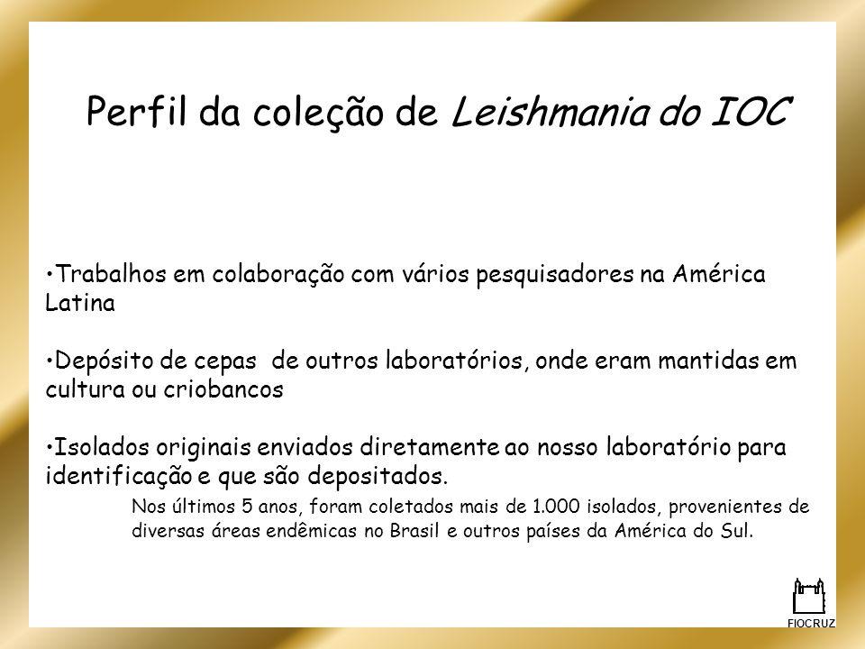 Perfil da coleção de Leishmania do IOC