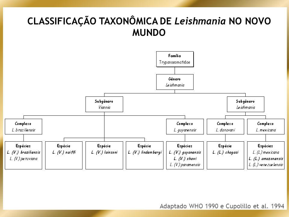 CLASSIFICAÇÃO TAXONÔMICA DE Leishmania NO NOVO MUNDO
