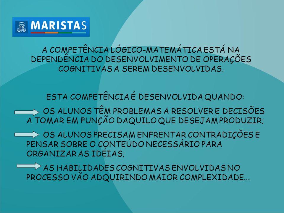 ESTA COMPETÊNCIA É DESENVOLVIDA QUANDO: