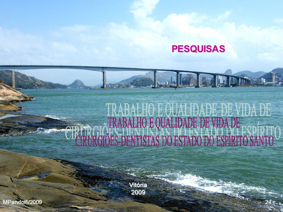 PESQUISAS TRABALHO E QUALIDADE DE VIDA DE