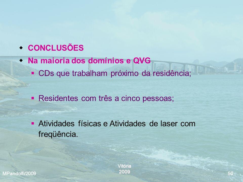 Na maioria dos domínios e QVG CDs que trabalham próximo da residência;