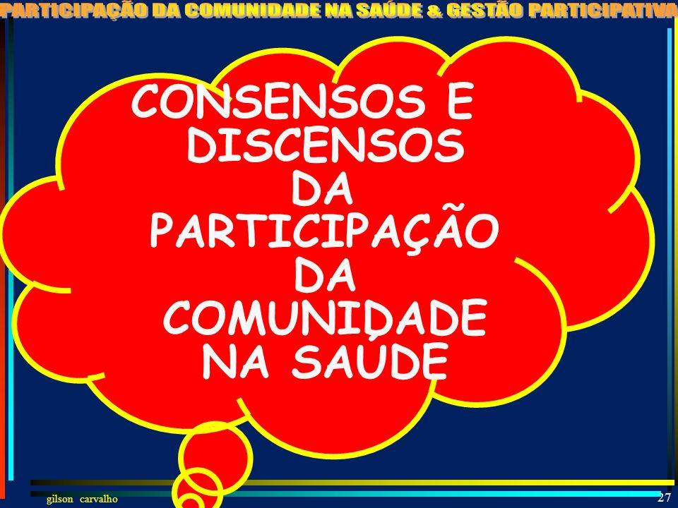 DA PARTICIPAÇÃO DA COMUNIDADE NA SAÚDE