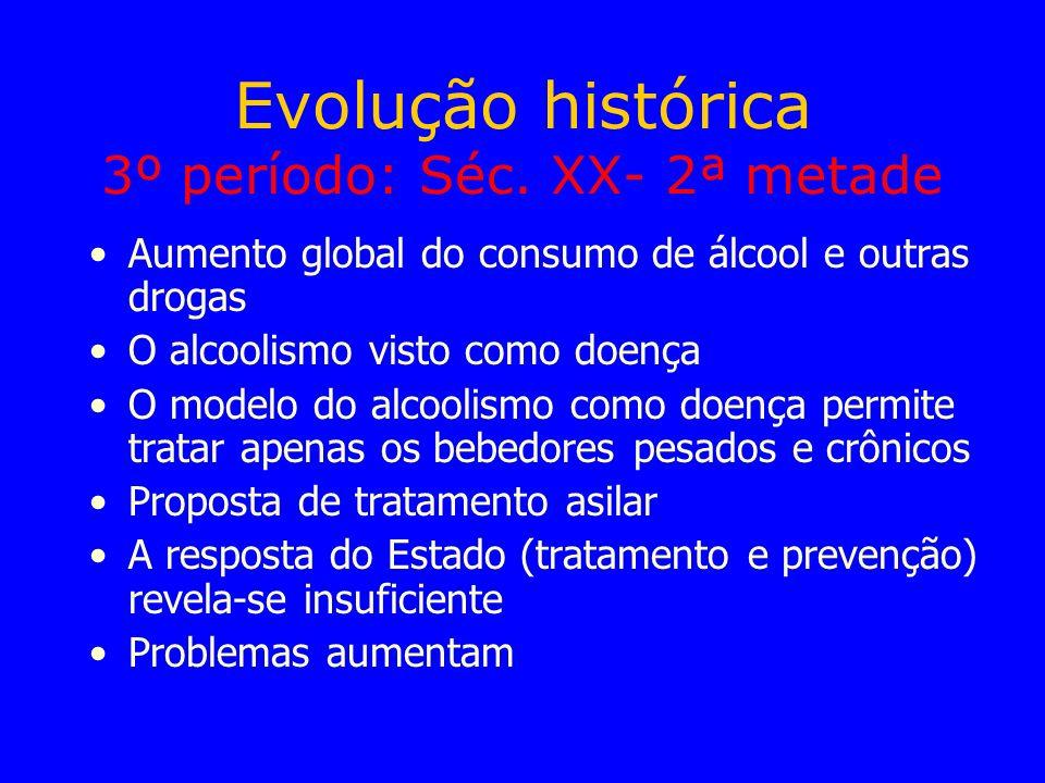 Evolução histórica 3º período: Séc. XX- 2ª metade