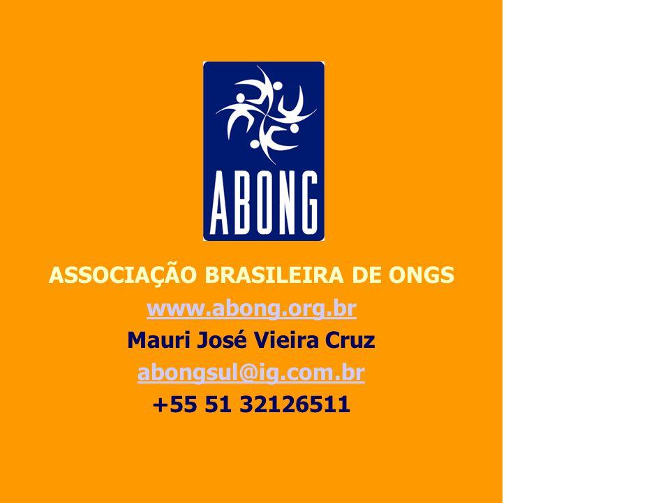 ASSOCIAÇÃO BRASILEIRA DE ONGS