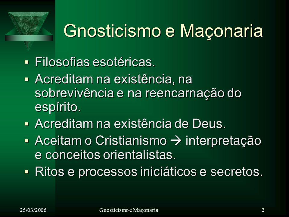 Gnosticismo e Maçonaria