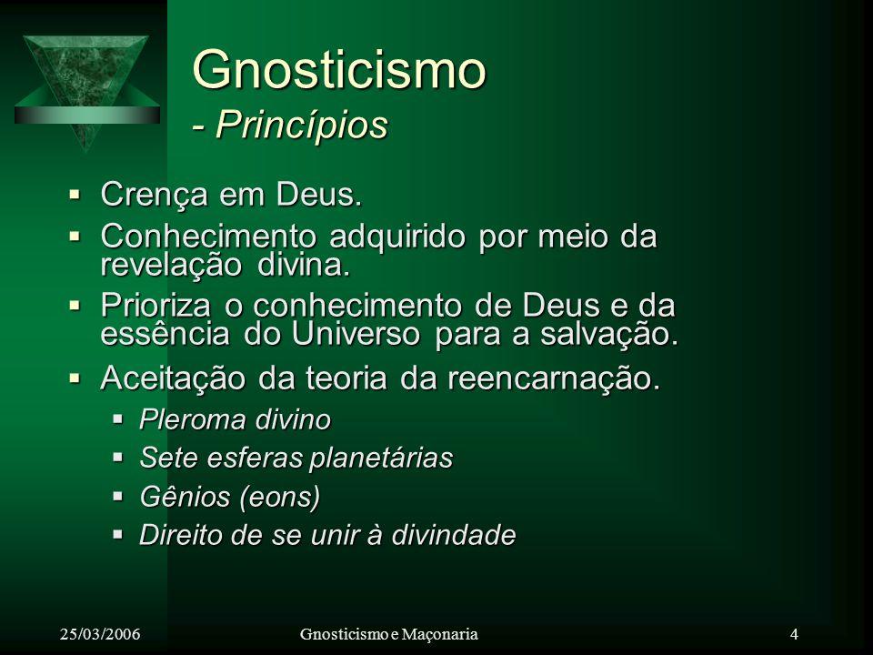Gnosticismo - Princípios