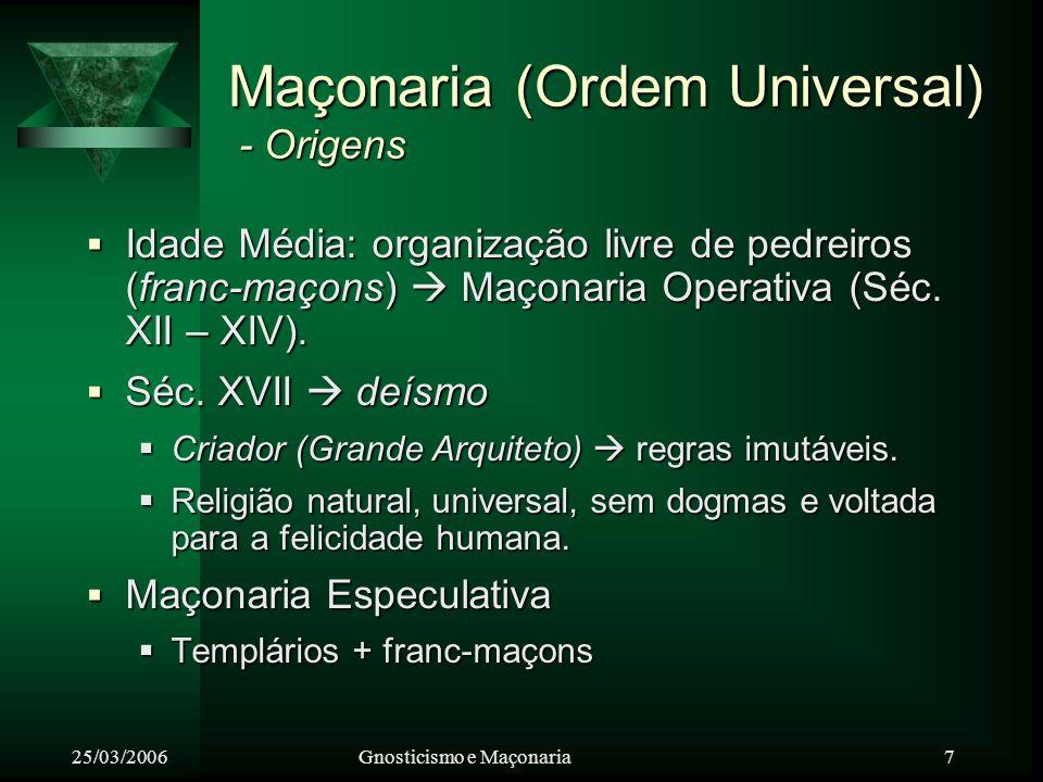 Maçonaria (Ordem Universal) - Origens