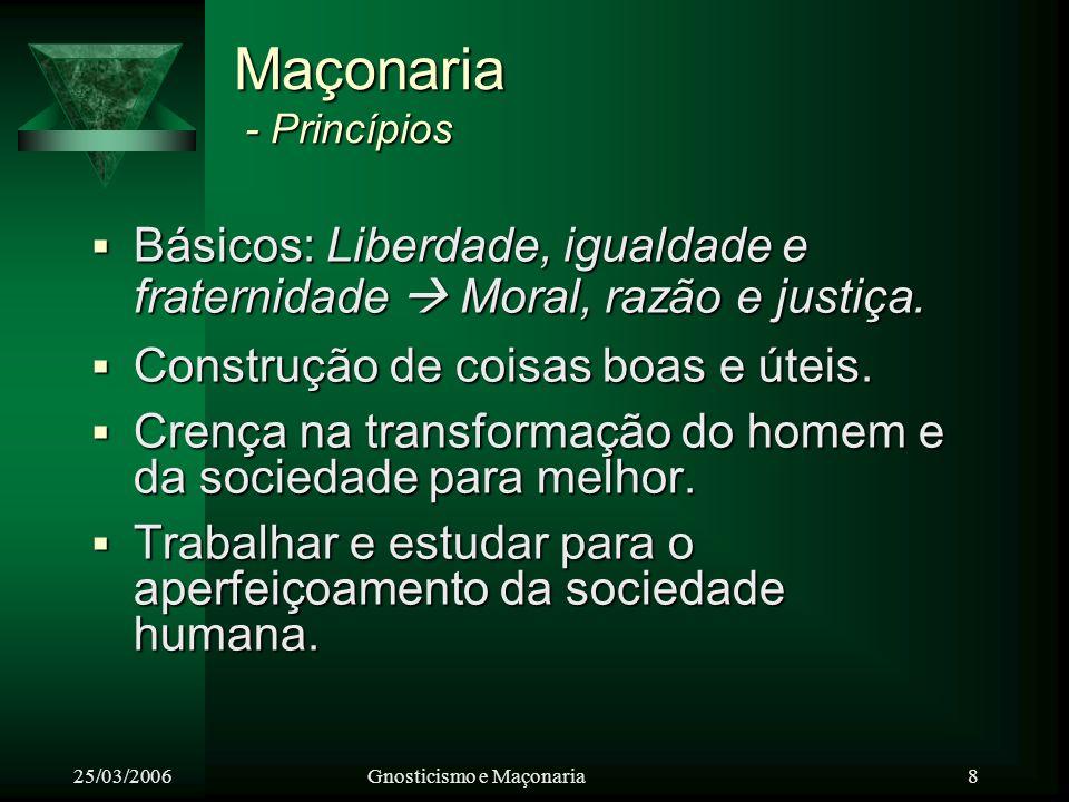 Maçonaria - Princípios