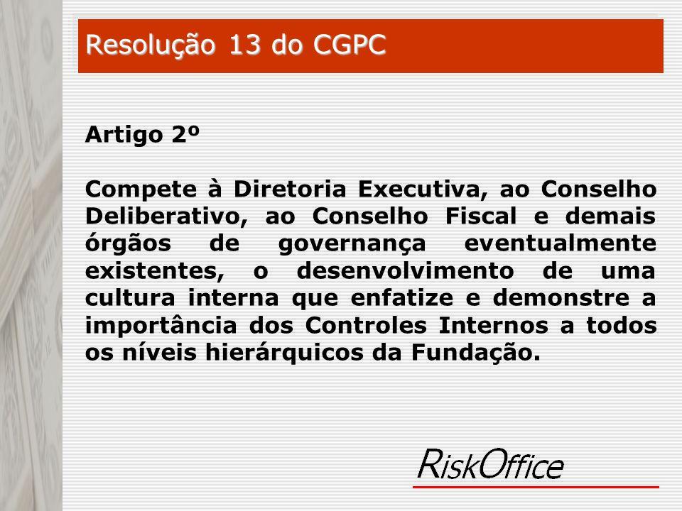 Resolução 13 do CGPC Artigo 2º