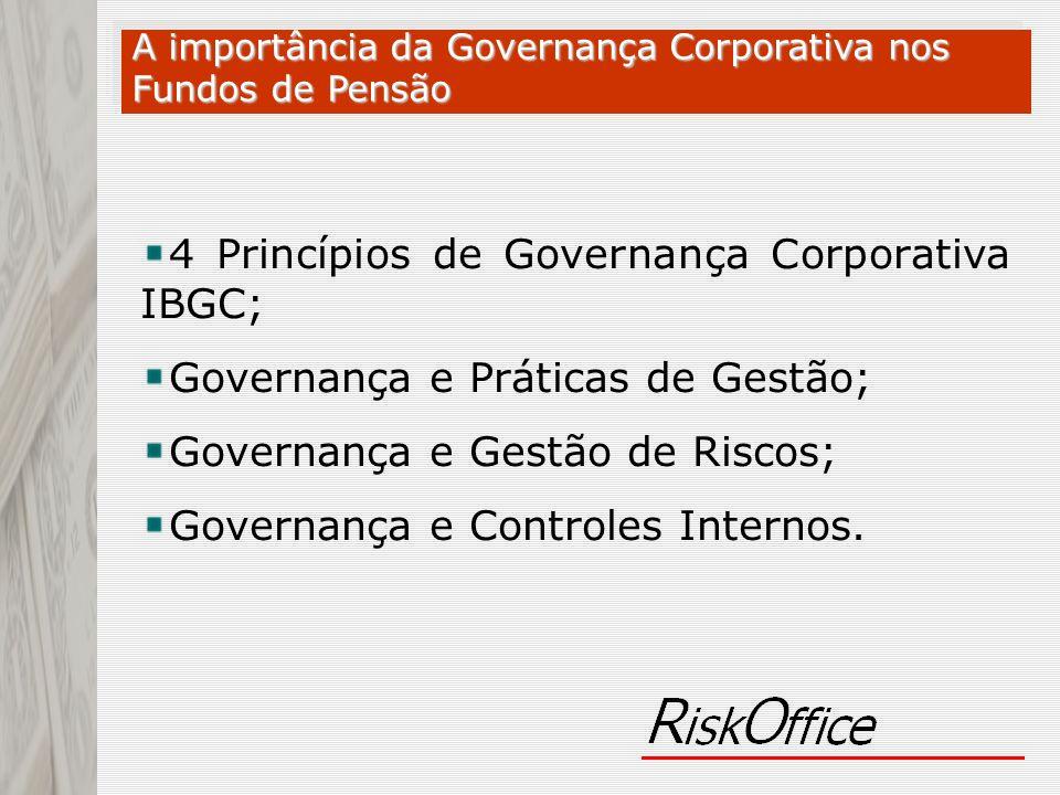 4 Princípios de Governança Corporativa IBGC;