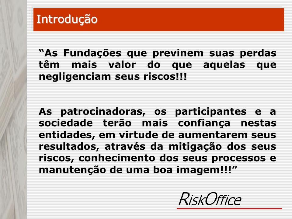 Introdução As Fundações que previnem suas perdas têm mais valor do que aquelas que negligenciam seus riscos!!!