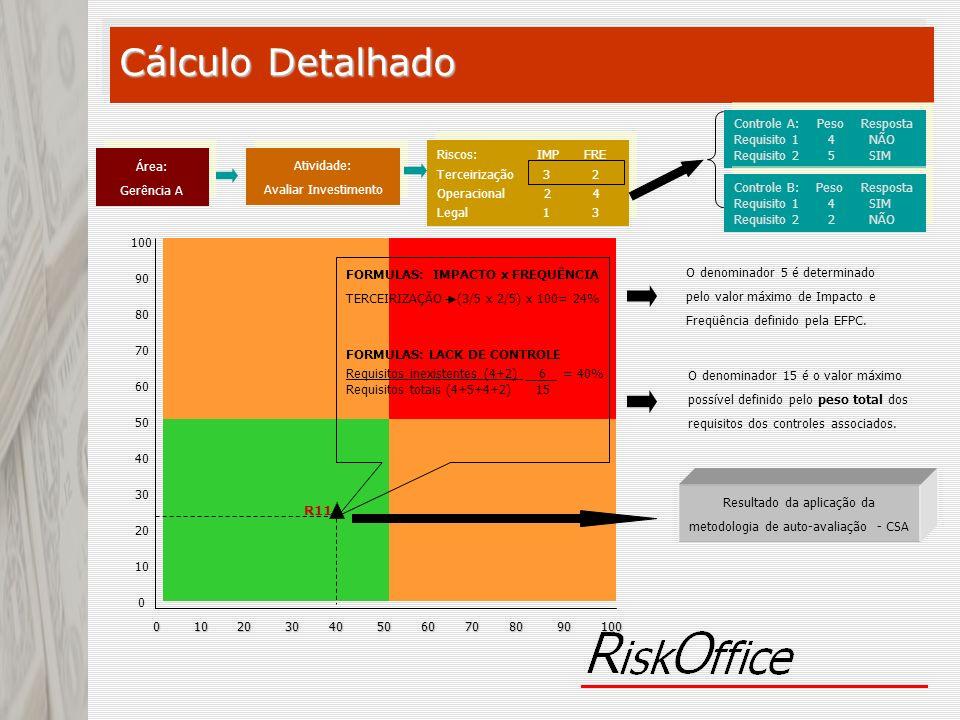 Resultado da aplicação da metodologia de auto-avaliação - CSA