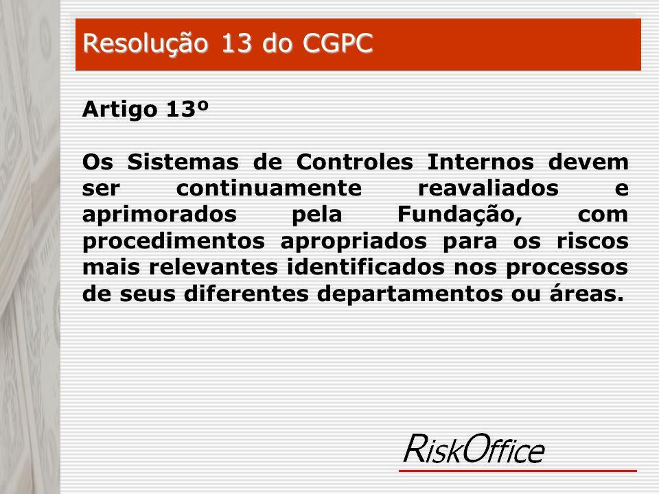 Resolução 13 do CGPC Artigo 13º