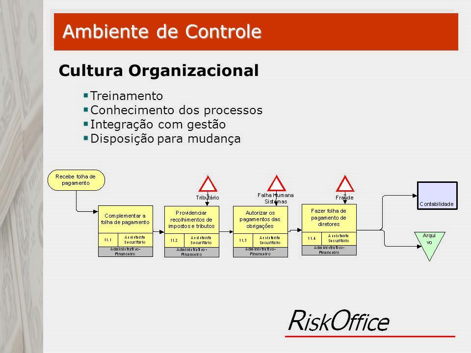 Ambiente de Controle Cultura Organizacional Treinamento