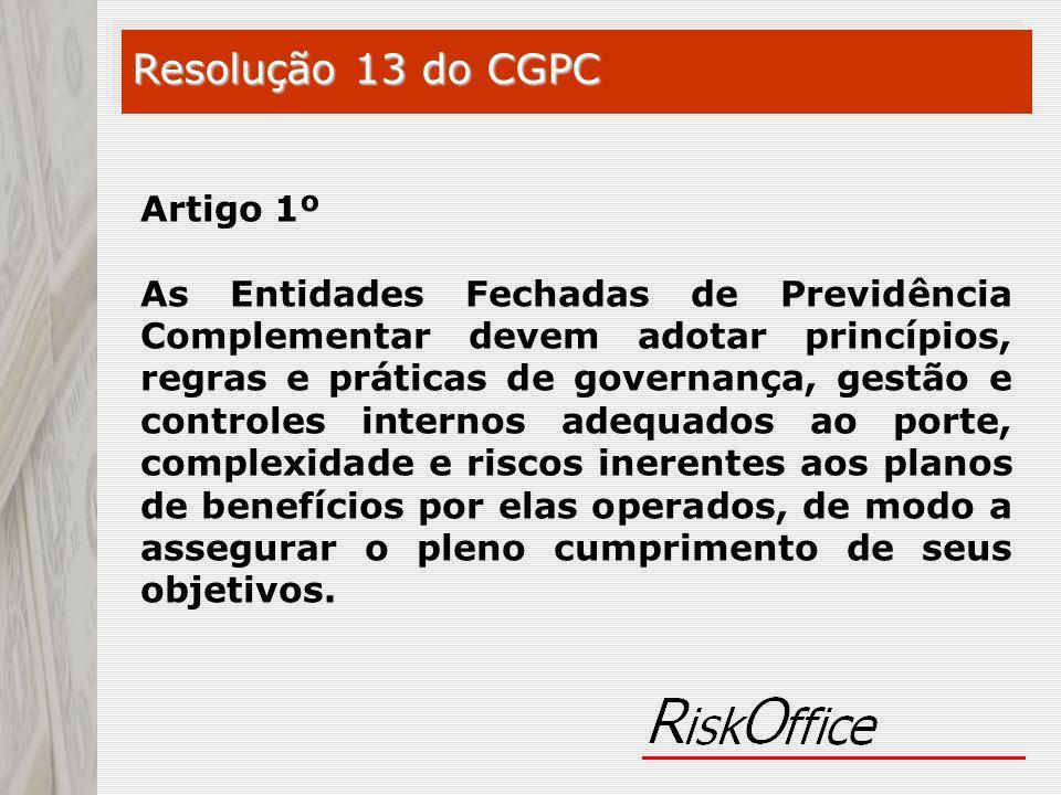 Resolução 13 do CGPC Artigo 1º