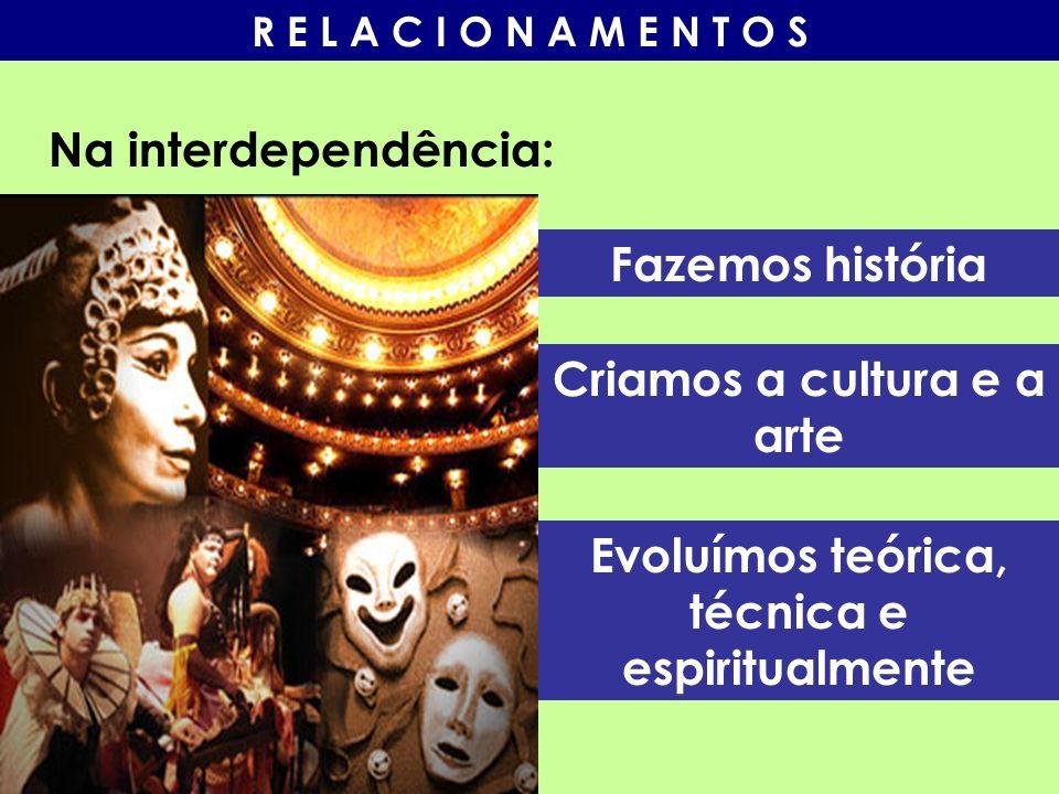 Criamos a cultura e a arte