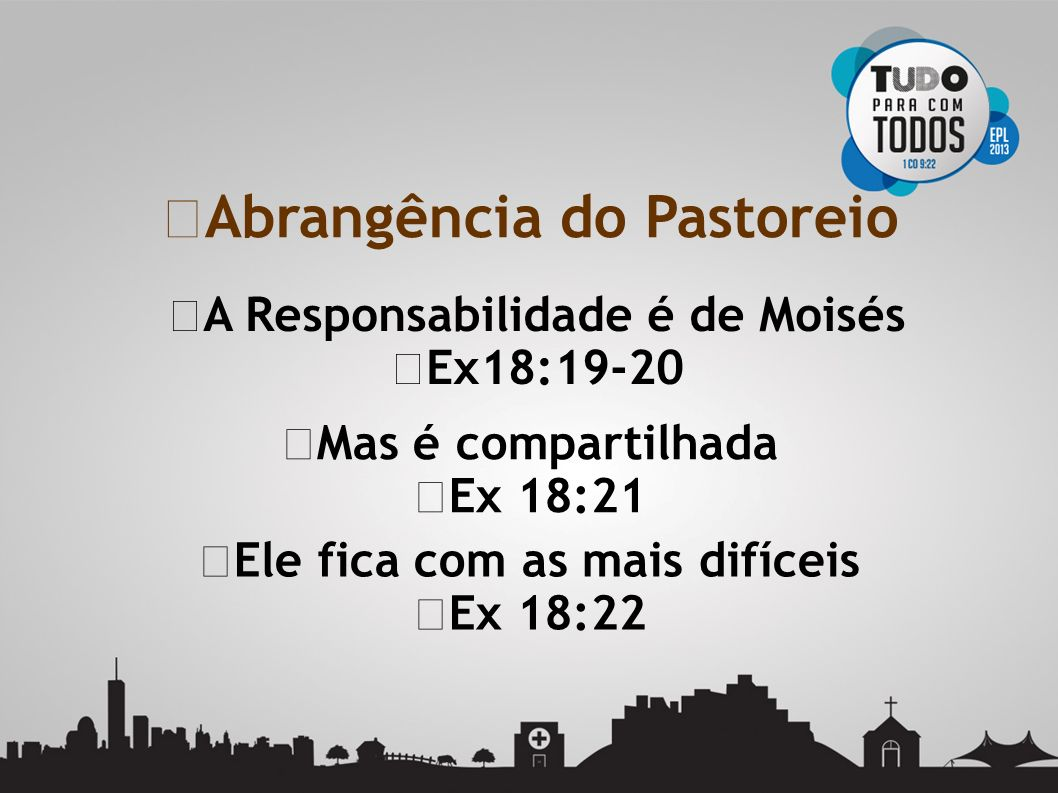 Abrangência do Pastoreio