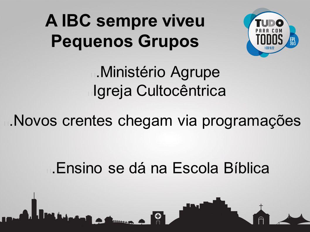 Pequenos Grupos .Ministério Agrupe Igreja Cultocêntrica