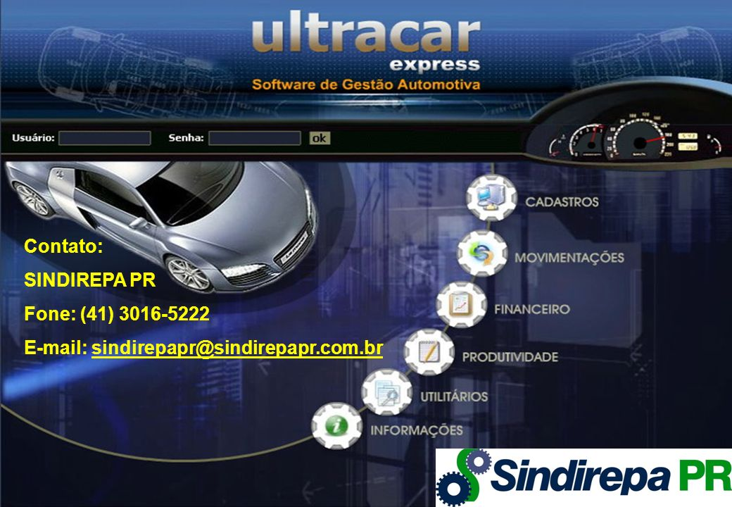 Contato: SINDIREPA PR Fone: (41) 3016-5222 E-mail: sindirepapr@sindirepapr.com.br